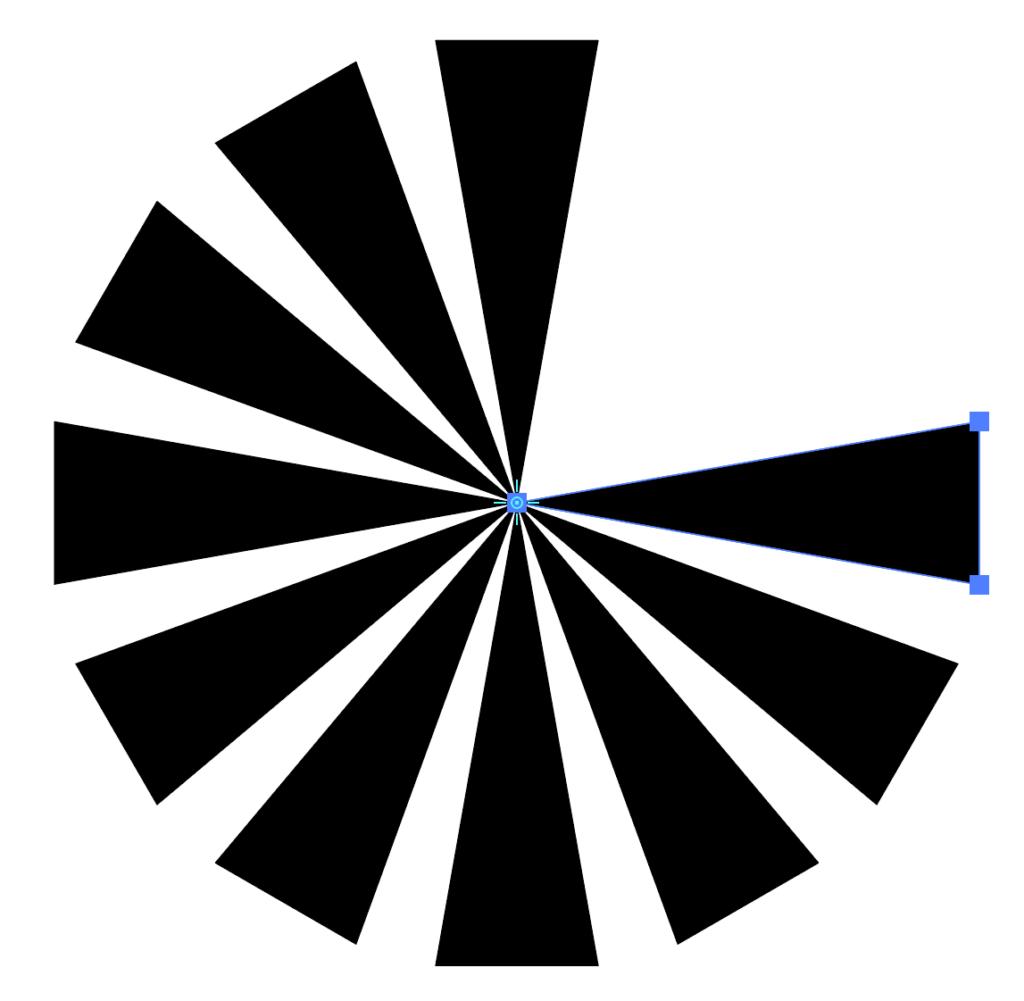 放射状のシェイプ