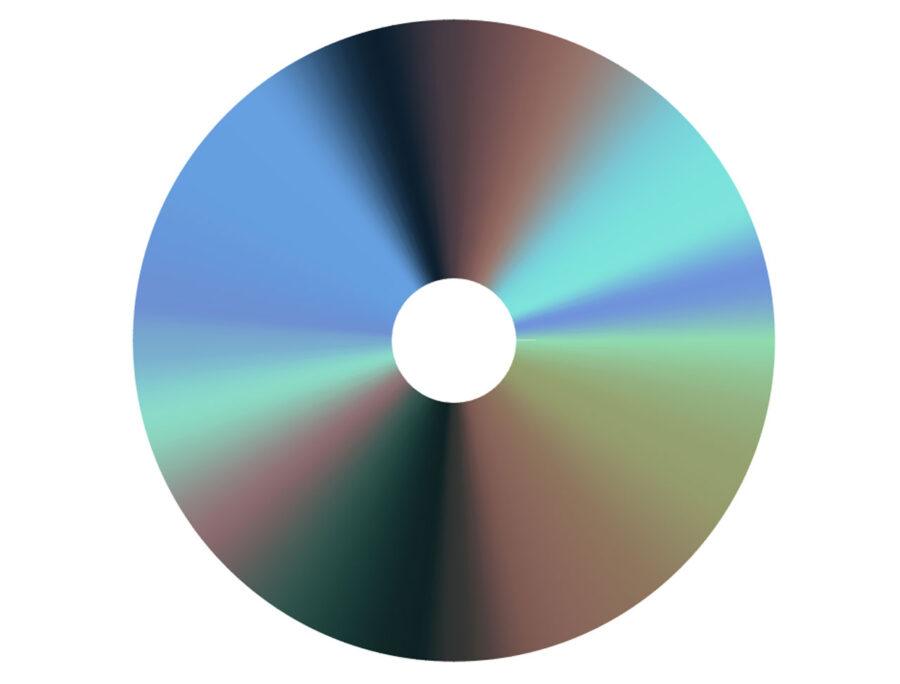 DVDのグラデーションスウォッチ