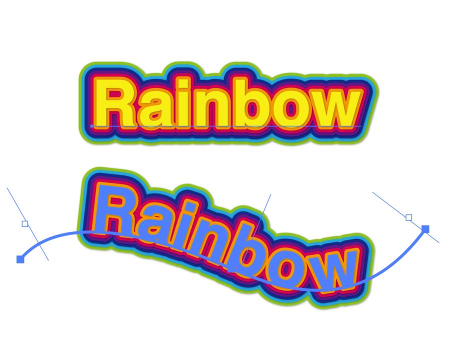 アピアランスで虹文字を作る