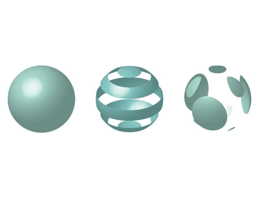 効果回転体で作る立体表現